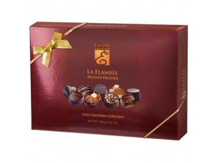 Emoti La Flambee Výběr čokoládových hořkých pralinek 189g