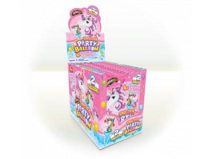 Unicorn Party Balloon 4x prásk.prášek,2xbalónek