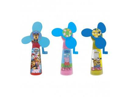 Ventilator s cukrovinkou motiv Peppa Pig/Paw Patrol/Minions 5g 12ks