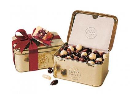 Elit Směs ořechů a dražé v krásné zlaté plechovce 250g