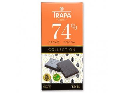 Trapa Hořká čokoláda 74% 90g