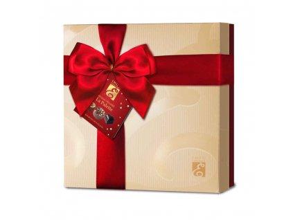 Emoti Luxusní dárková kazeta belgických pralinek z mléčné, hořké a bílé čokolády La Palette 215g