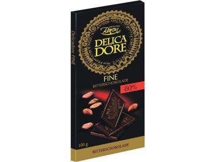 Baron Delicadore Víceprocentní hořká čokoláda 80% 100g