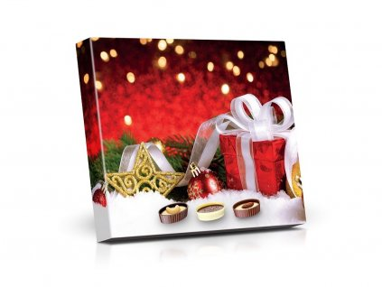 Plněné čokoládové lodičky červený dárek 125g