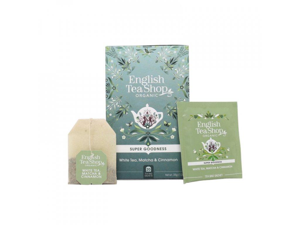 English Tea Shop Bílý čaj, matcha a skořice Mandala 20ns
