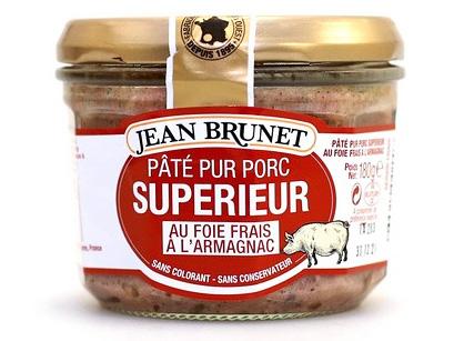 Jean Brunet Paštika z vepřových jater s armagnakem 180g