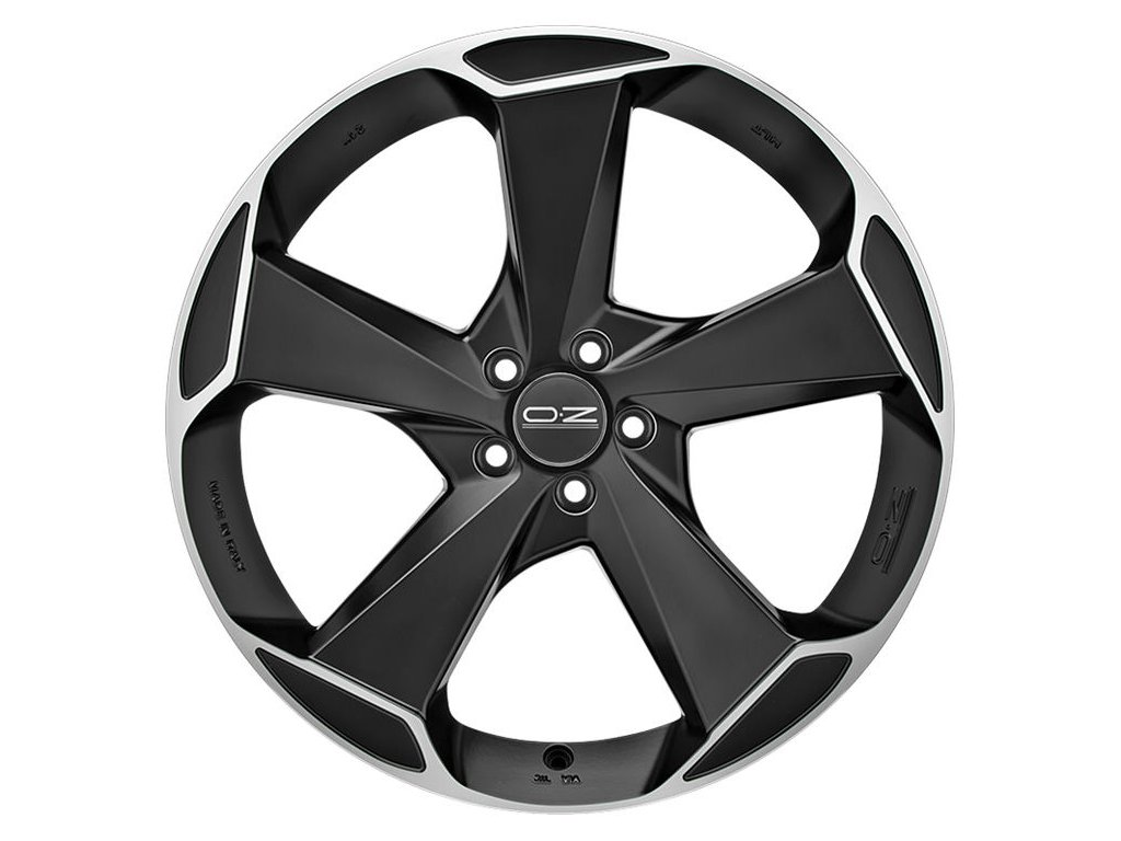 OZ ASPEN HLT 20x10 5x112 ET43 MATT BLACK DIAMOND CUT