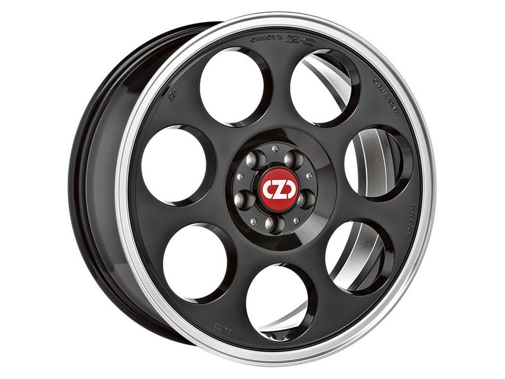 OZ ANNIVERSARY 45 17x7 4x98 ET35 BLACK DIAMOND LIP