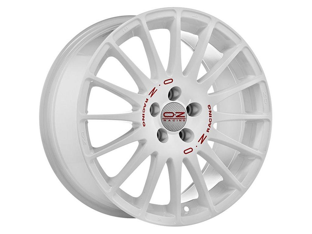 OZ SUPERTURISMO WRC 18x7 4x100 ET42 RACE WHITE RED LETTERING