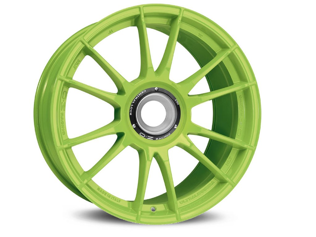 OZ ULTRALEGGERA HLT CL 19x12 5x130 ET63 ACID GREEN
