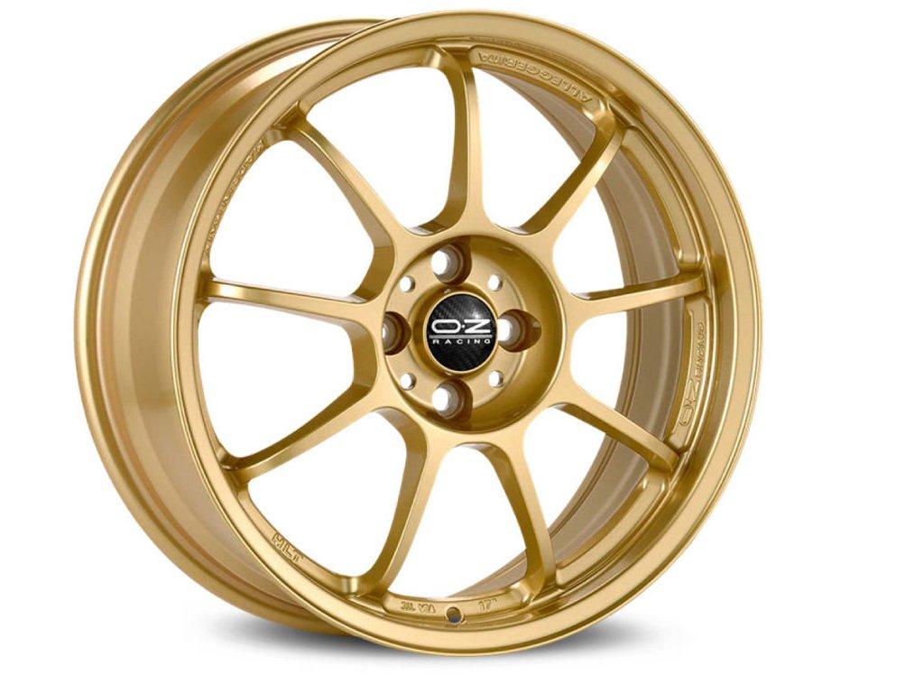 OZ ALLEGGERITA HLT 5F 17x8 5x100 ET35 RACE GOLD