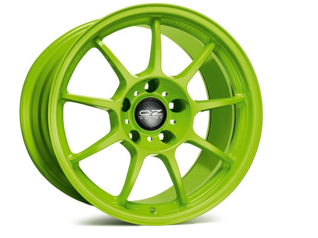 OZ ALLEGGERITA HLT 5F 18x12 5x130 ET45 ACID GREEN