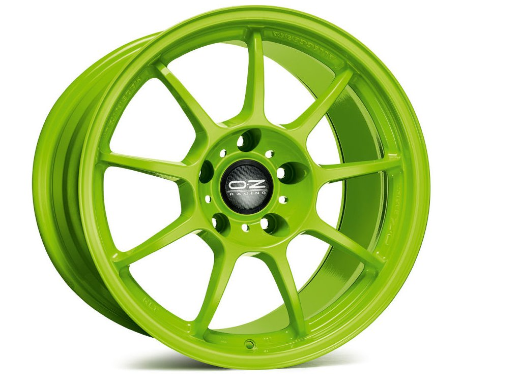 OZ ALLEGGERITA HLT 5F 18x12 5x130 ET68 ACID GREEN