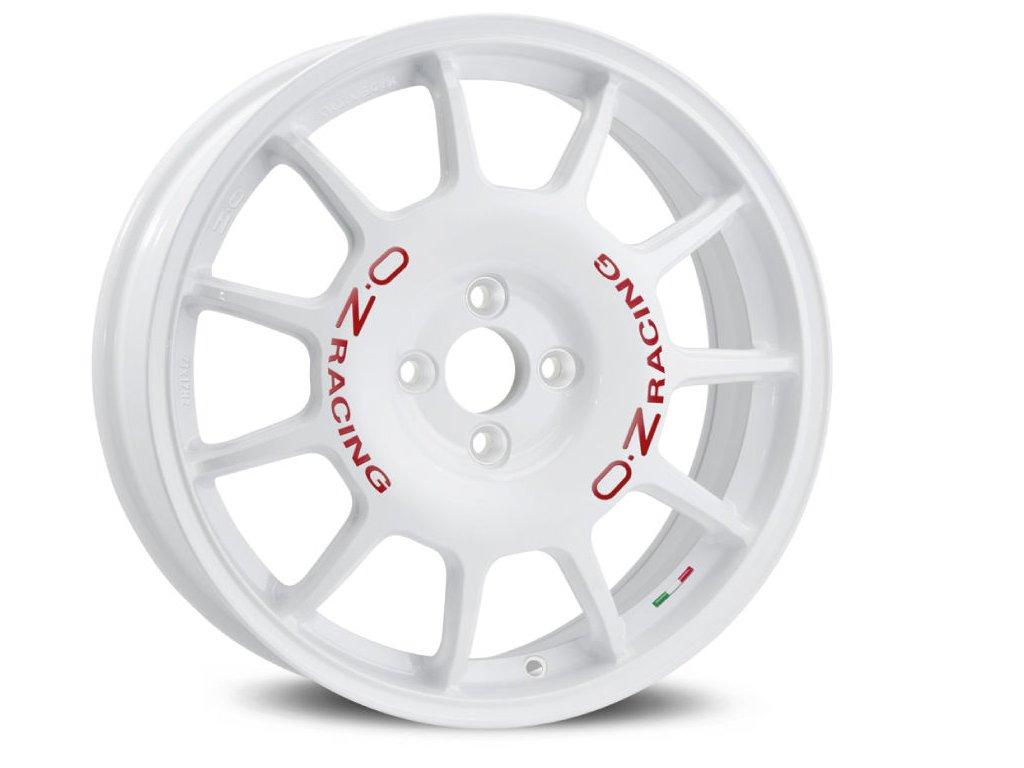 OZ LEGGENDA 17x7 4x100 ET37 RACE WHITE RED LETTERING