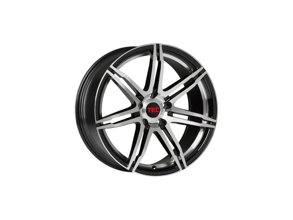 Alu kola TEC Speedwheels GT2 17x7,5J 5x115 ET40 CB70,2 black-polished