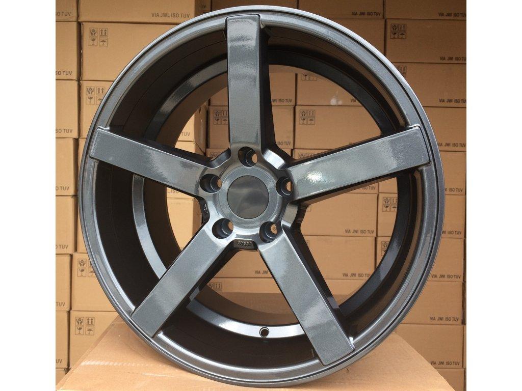 Alu kola Racing wheel 19x8.5 5x120 ET20 72.6 Gloss Graphite