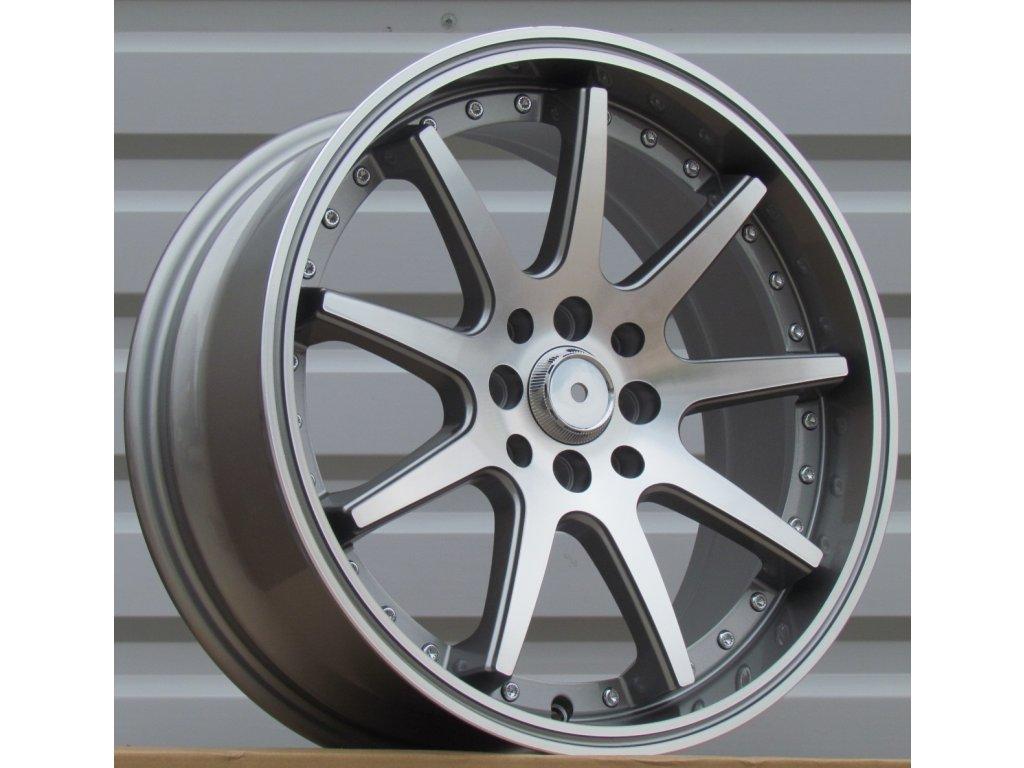 Alu kola Racing wheel 17x7.5 4x100/114.3 ET35 73.1 Grey Polished