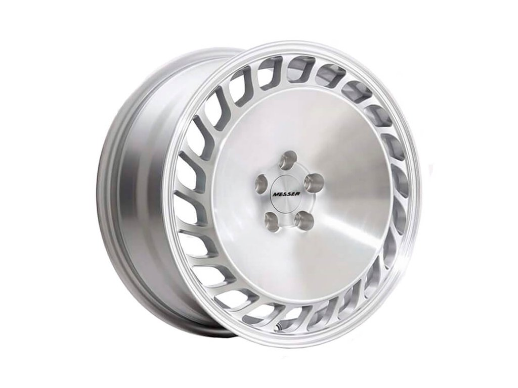 Alu kola replika Messer Turbo 18x9 ET37 5x112 Silver machined face
