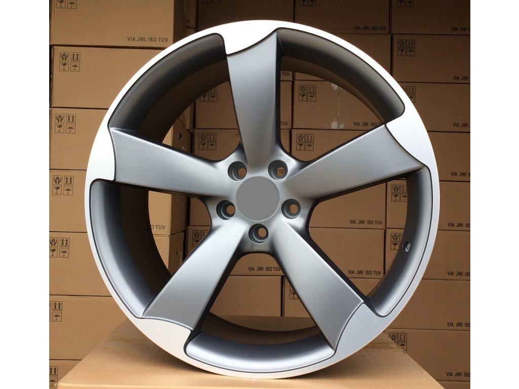 Alu kola design Audi 18x8,5 5x112 ET39 66,45 šedé