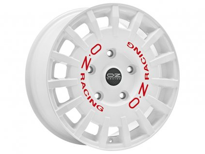 OZ RALLY RACING VAN 18x7,5 5x160 ET48 RACE WHITE RED LETTERING