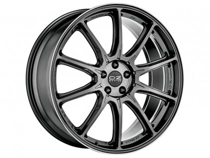 OZ HYPER XT HLT 22x10 5x130 ET28 STAR GRAPHITE DIAMOND LIP