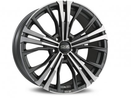 OZ CORTINA 19x10 5x112 ET50 MATT DARK GRAPHITE DIAMOND CUT