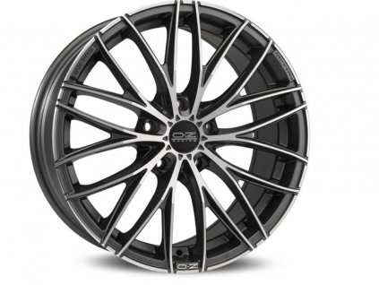 OZ ITALIA 150 17x7 5x100 ET35 MATT DARK GRAPHITE DIAMOND CUT