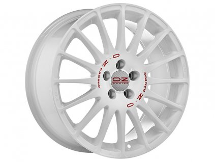 OZ SUPERTURISMO WRC 15x6,5 4x108 ET18 RACE WHITE RED LETTERING