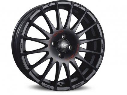 OZ SUPERTURISMO GT 15x6,5 4x100 ET43 MATT BLACK RED LETTERING