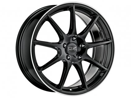 OZ VELOCE GT 17x7,5 5x100 ET35 GLOSS BLACK+DIAMOND LIP+SILVER LETTERING