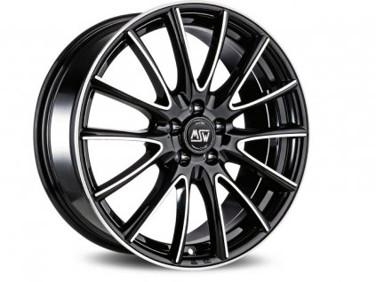 MSW 86 15x6 4x108 ET22 BLACK FULL POLISHED (GBFP)