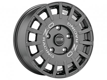 OZ RALLY RACING 17x8 5x120 ET34 DARK GRAPHITE SILVER LETTERING