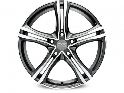 OZ X5B 16x7 5x114,3 ET45 MATT GRAPHITE DIAMOND CUT