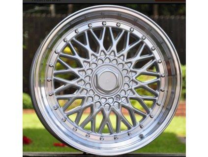Alu kola replika BBS 18x9.5 5x100/114.3 ET20 Silver Polished
