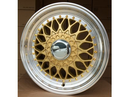 Alu kola replika BBS 16x7.5 4x100/114.3 ET20 gold polished