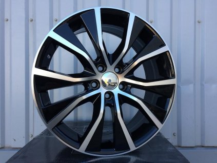 Alu kola design Subaru 17x7 5x100 ET48 Black Half Matt