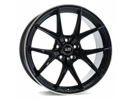 Alu kola TEC Speedwheels GT6 19x8J 5x120 ET40 CB72,6 black-polished-lip