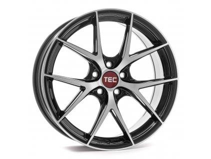 Alu kola TEC Speedwheels GT6 EVO  5x120 ET35 CB74,1 black-polished