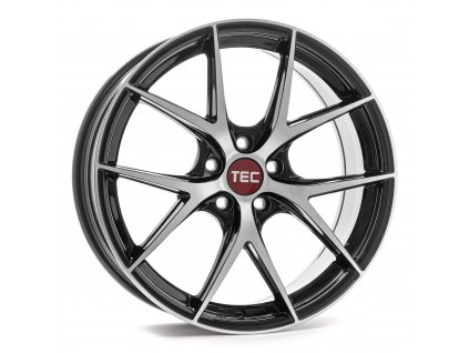 Alu kola TEC Speedwheels GT6 EVO  5x130 ET50 CB71,5 black-polished