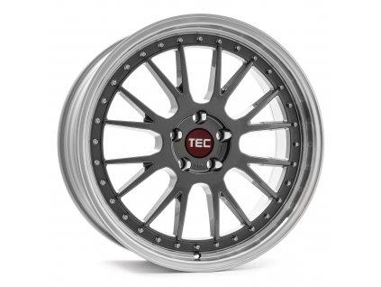Alu kolaTEC Speedwheels GT EVO 18x8J 5x120 ET38 CB72,6 titan-polished-lip