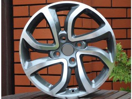 Alu kola Citroen 16x6.5 4x108 ET26 65.1 Grey Polished