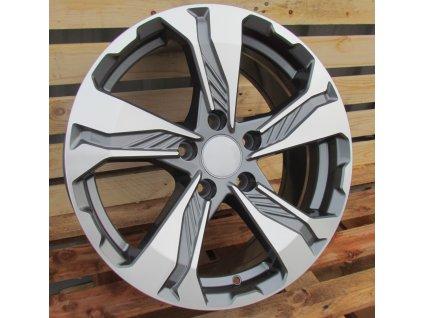 Alu kola design Honda 17x7.5 5x114.3 ET45 64.1 šedé