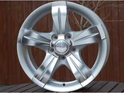 Alu kola Racing wheel 14x6 5x100 ET35 73.1 Silver Polished