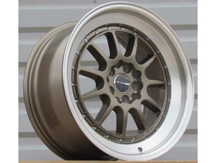 R17X8.5 10X100/114.3 ET31 73.1 DW3008 (30081785-12) Bronze+Polished lip (MI/U4V) RWR (replica price)(+5 eur (K3)