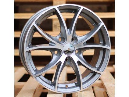 Alu kola design  15x6 5x114.3 ET39 67.1 šedé