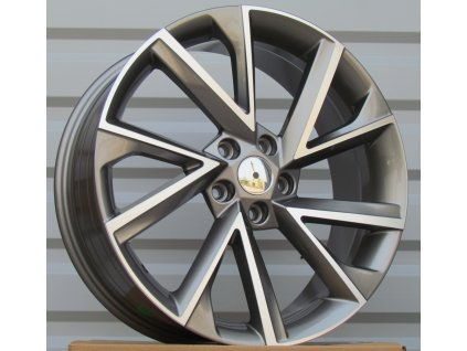 Alu kola ?koda 19x7.5 5x112 ET43 57.1 Grey Polished