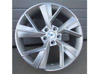 Alu kola Škoda 18x7 5x112 ET43 57.1 Silver Polished