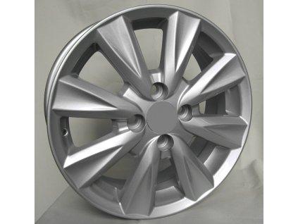 Alu kola design Toyota 15x6 4x100 ET45 54,1 stříbrné