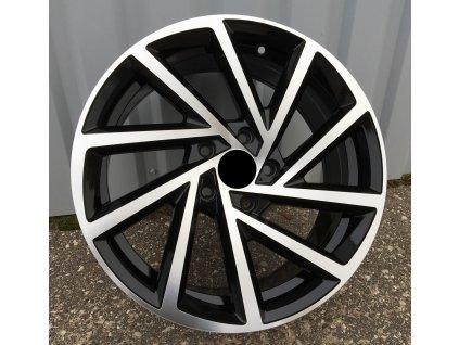 Alu kola VW 15x5.5 5x112 ET40 57.1 Black Half Matt