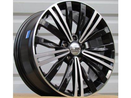 Alu kola VW 17x7 5x112 ET40 57.1 Black Half Matt